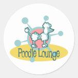Retro Poodle Lounge Sticker