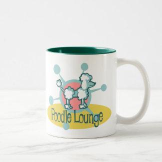 Retro Poodle Lounge Two-Tone Coffee Mug