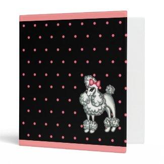 Retro Poodle Scrapbook Binder