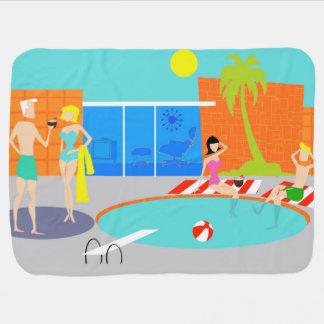 Retro Pool Party Baby Blanket