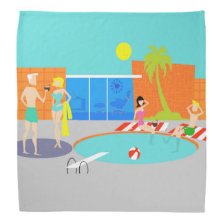 Retro Pool Party Bandana