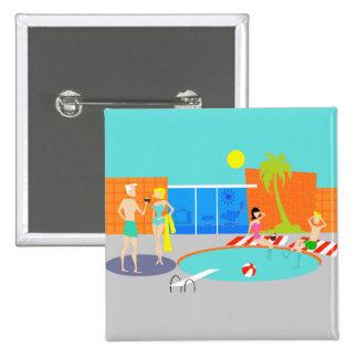 Retro Pool Party Button