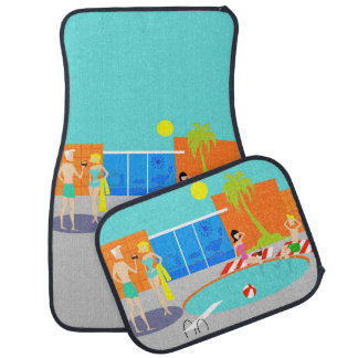 Retro Pool Party Car Mats