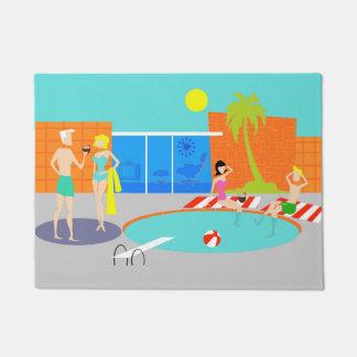 Retro Pool Party Door Mat