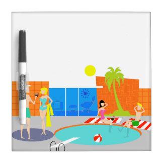 Retro Pool Party Dry Erase Board