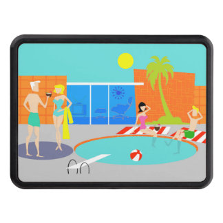 Retro Pool Party Hitch Cover