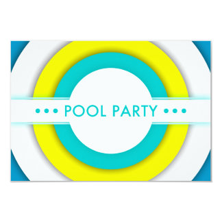 retro pool party invitation