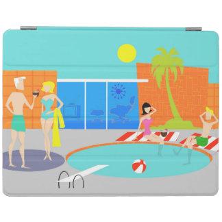 Retro Pool Party iPad Cover