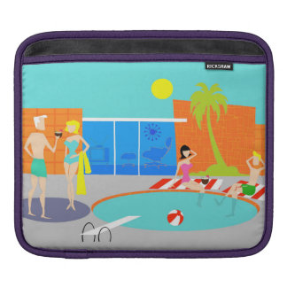 Retro Pool Party iPad Sleeve
