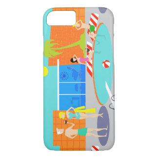 Retro Pool Party iPhone 7 Case