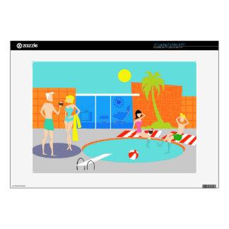 Retro Pool Party Laptop Skin
