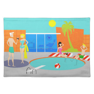 Retro Pool Party Placemat