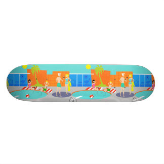 Retro Pool Party Skateboard