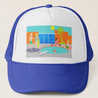 Retro Pool Party Trucker Hat