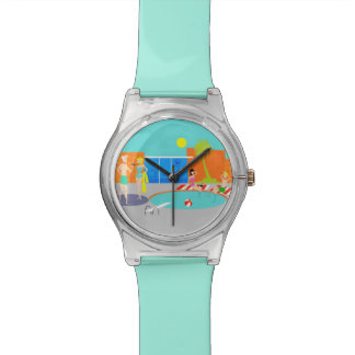 Retro Pool Party Watch