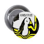Retro/Pop Art - Breathe Pin