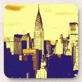 Retro Pop Art Comic New York City Beverage Coaster
