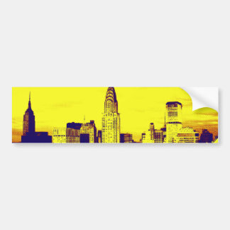 Retro Pop Art Comic New York City Car Bumper Sticker