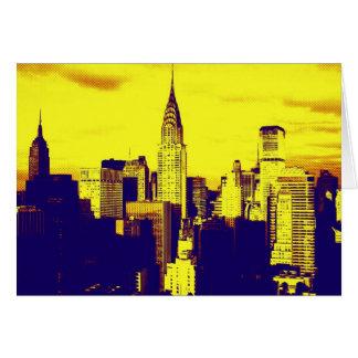 Retro Pop Art Comic New York City Greeting Card