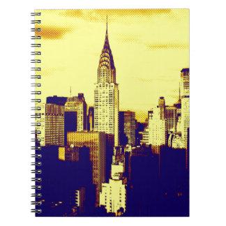 Retro Pop Art Comic New York City Notebook