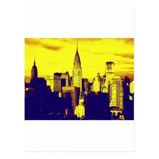 Retro Pop Art Comic New York City Postcard
