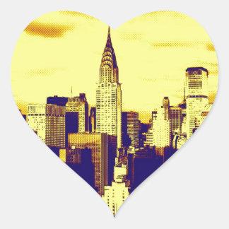 Retro Pop Art Comic New York City Stickers