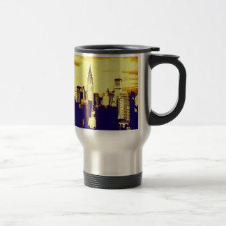 Retro Pop Art Comic New York City Travel Mug