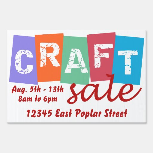 Retro pop art craft sale sign zazzle for Crafts to make for sale