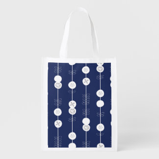 Retro Pop Art Fruit Pattern Grocery Bag