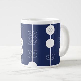 Retro Pop Art Fruit Pattern Large Coffee Mug