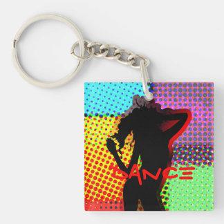 Retro Pop Art Funky Hot Dance Lady Keychain