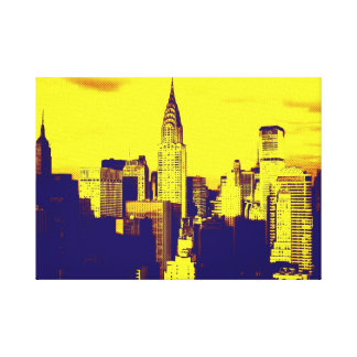 Retro Pop Art New York City Stretched Canvas Print