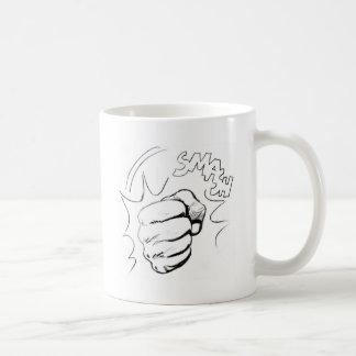 Retro Pop Art Smash Sketch Coffee Mug