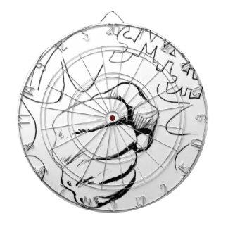 Retro Pop Art Smash Sketch Dartboard With Darts