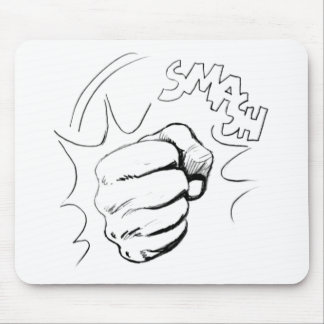 Retro Pop Art Smash Sketch Mousepad