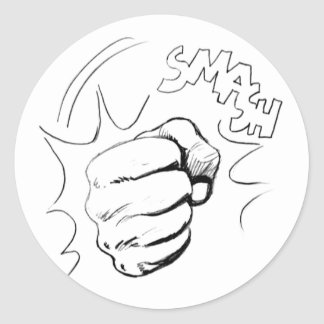 Retro Pop Art Smash Sketch Sticker