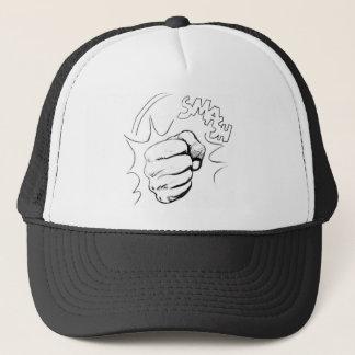 Retro Pop Art Smash Sketch Trucker Hat