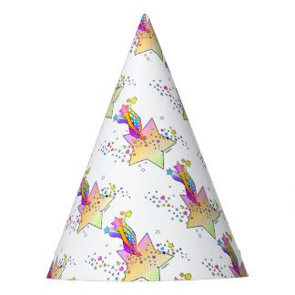 RETRO POP ART STAR PARTY HAT