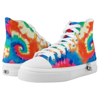 Retro Pop Art Tie Dye High-Top Sneakers