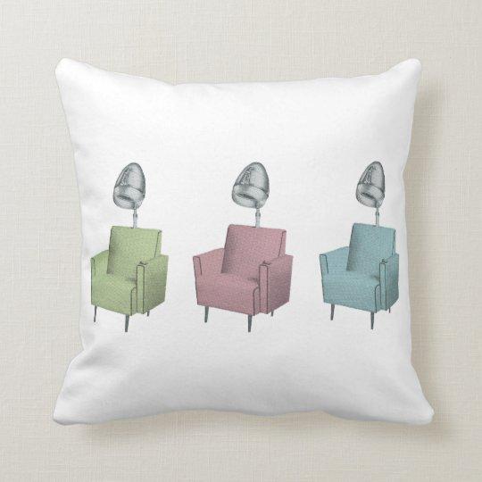 retro pop art vintage salon dryer chairs pillow zazzle com