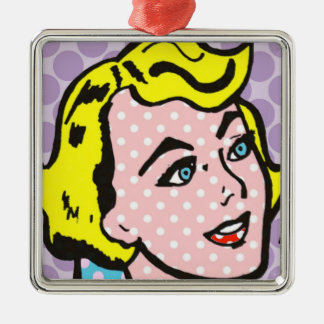 Retro Pop Art Woman Christmas Ornament