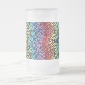 Retro Pop-Beads Frosted Glass (large) Mug