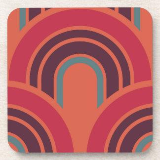 Retro Pop Fifties Mosaic Pattern Coaster