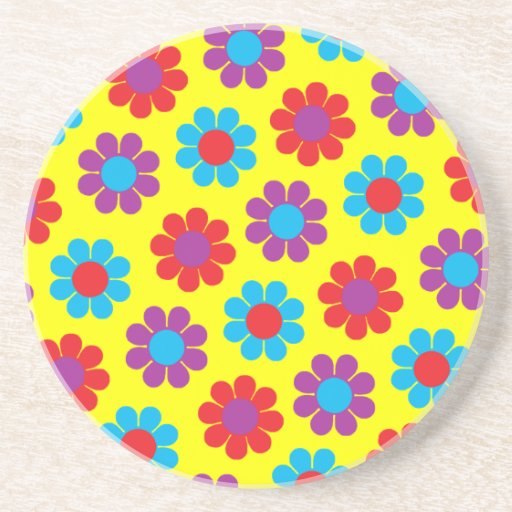 Retro Pop Flower Power Daisy Coaster