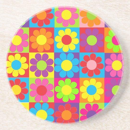 Retro Pop Flower Power Daisy Drink Coaster