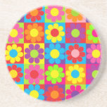 Retro Pop Flower Power Daisy Drink Coasters