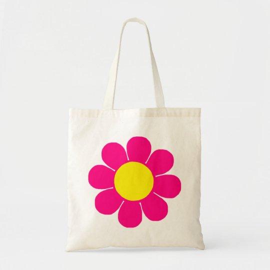 Retro Pop Flower Power Tote Bag