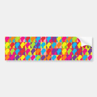 Retro Pop Multicolor BeeHives Bumper Sticker