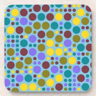 Retro Pop Polka Dot Mosaic Pattern #3 Beverage Coaster
