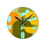 Retro Pop Round Wall Clocks